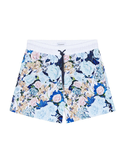 Swim Short - Blue Botanical