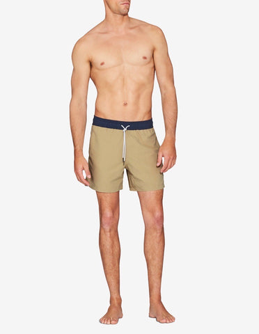SWIM SHORT - TOBACCO / NAVY BAND