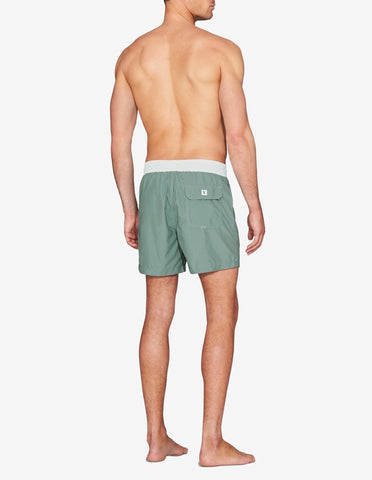 Swim Short - Teal / White Band