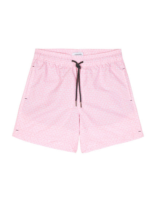 Swim Short - Pink Geometric