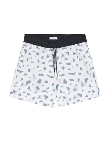 Swim Short - Navy Band / Grey Brush