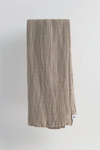 Linen Towel - Taupe Waffle