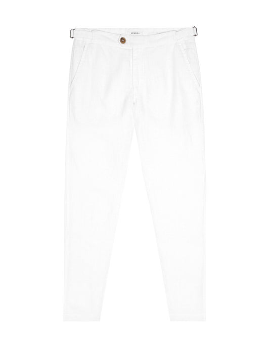 Side Tab Trouser - White