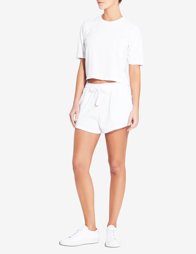 Womens Terry Towel Short - White