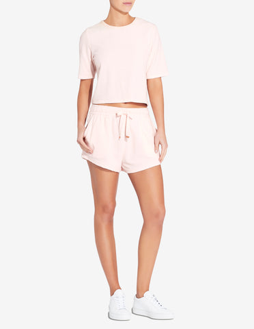Womens Terry Towel Short - Light Pink