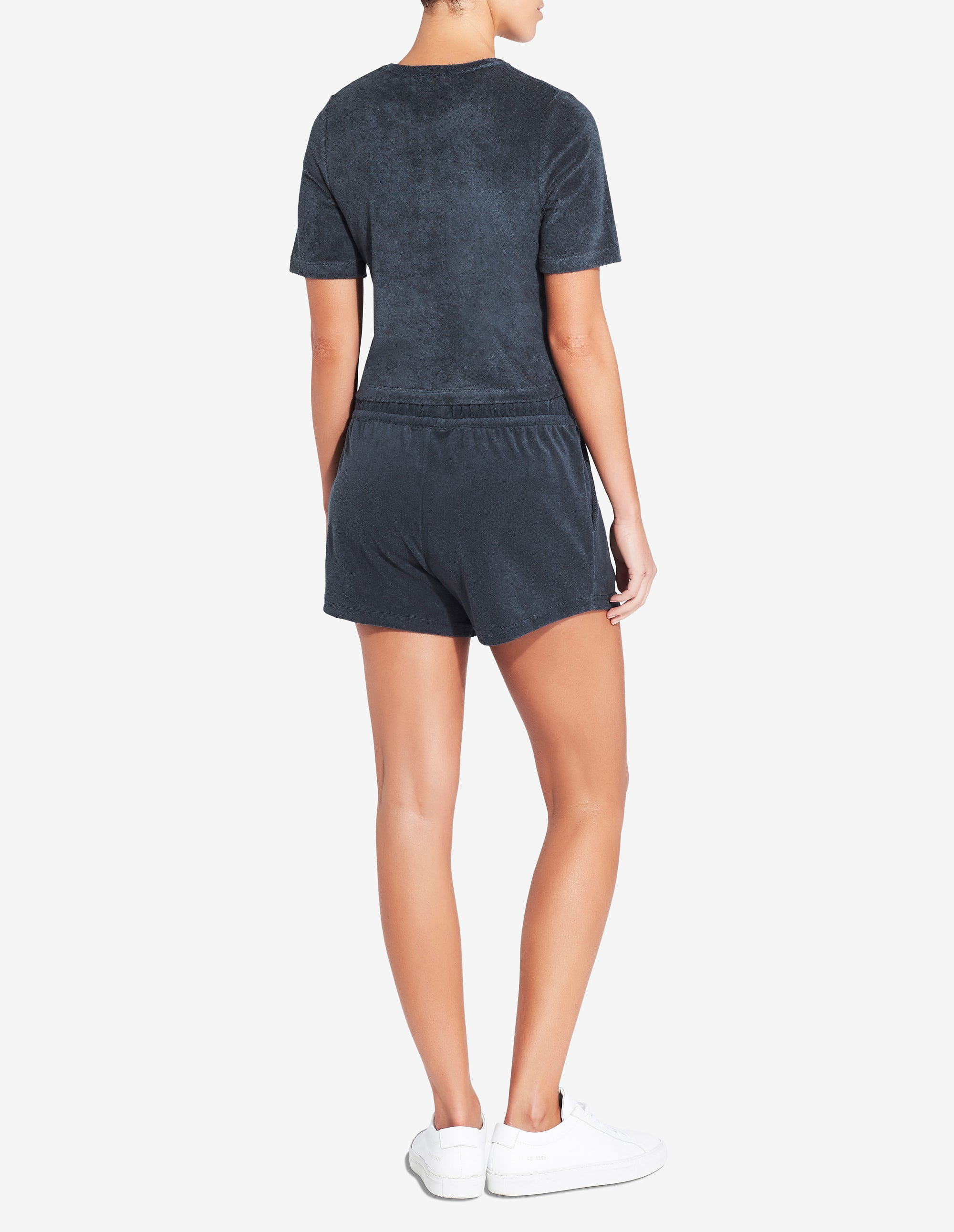 Womens Terry Towel Short - Navy
