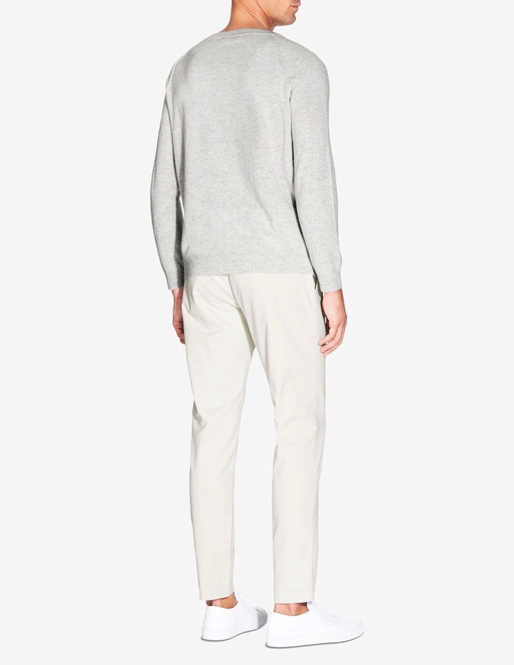 CASHMERE RAGLAN SWEATER - GREY MARL