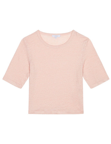 Womens Cropped Tee - Dusty Pink