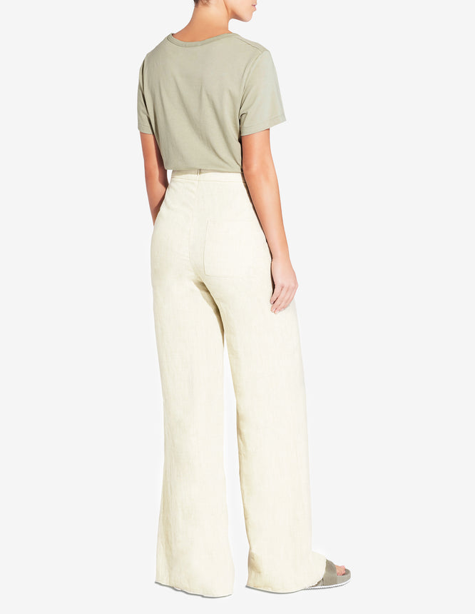 Womens Front Split Pant - Yellow