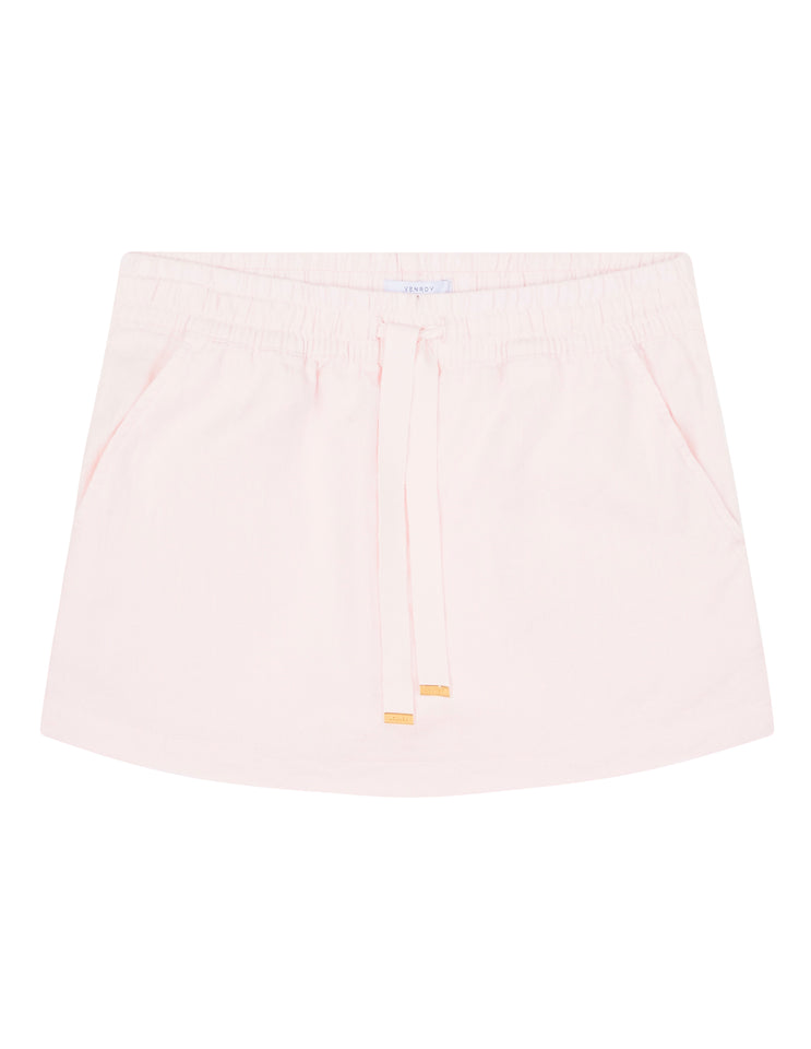 WOMENS LOUNGE SKIRT - LIGHT PINK
