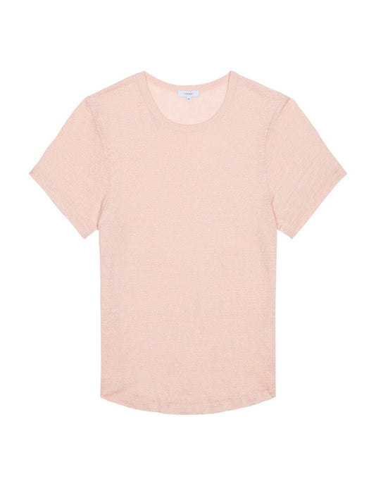 Womens Crewneck T Shirt - Dusty Pink
