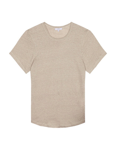 Womens Crewneck T Shirt - Camel