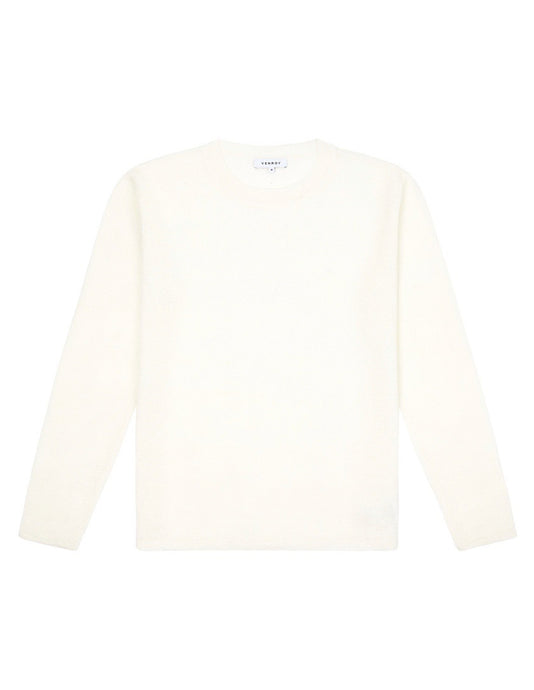 LIGHT WEIGHT LINEN SWEATER - IVORY