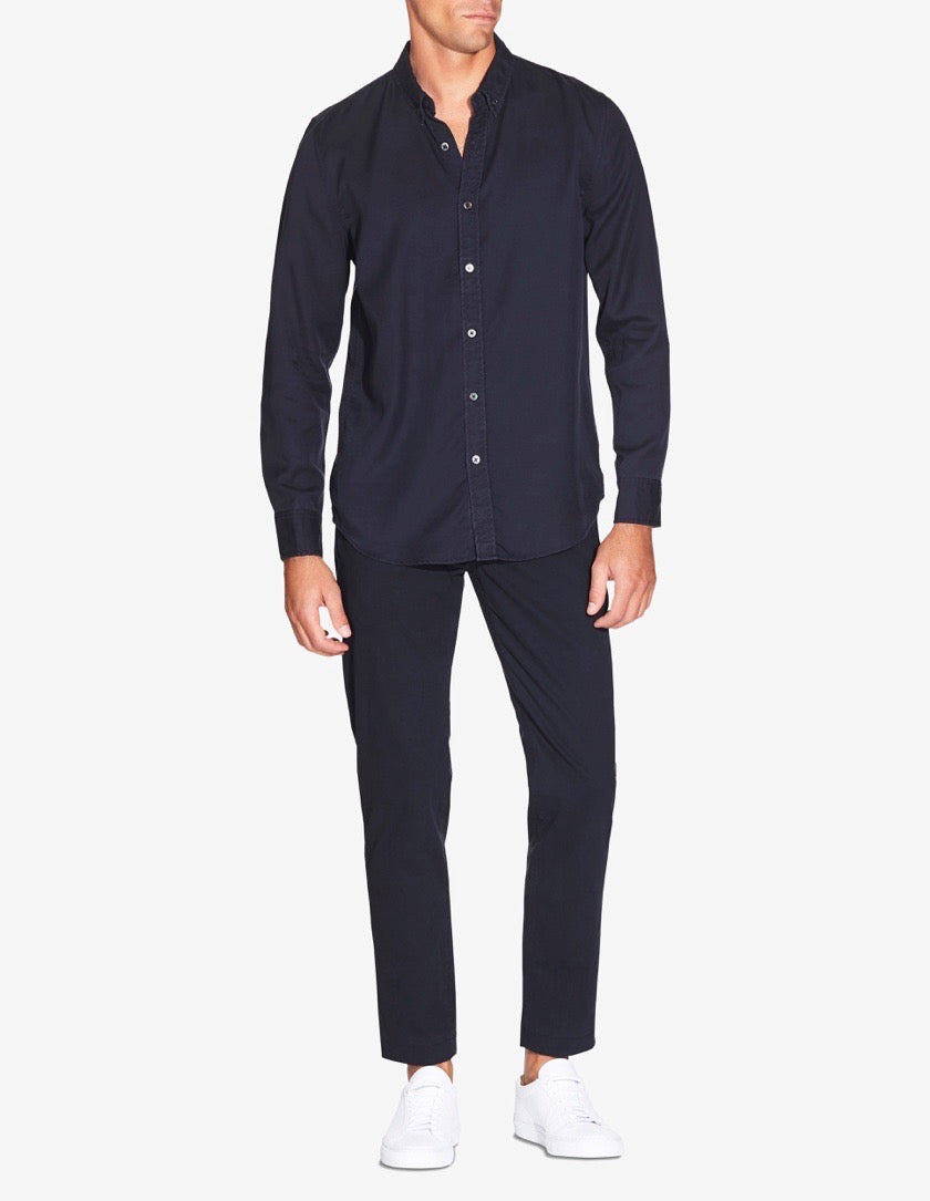 WINTER LINEN SHIRT - NAVY