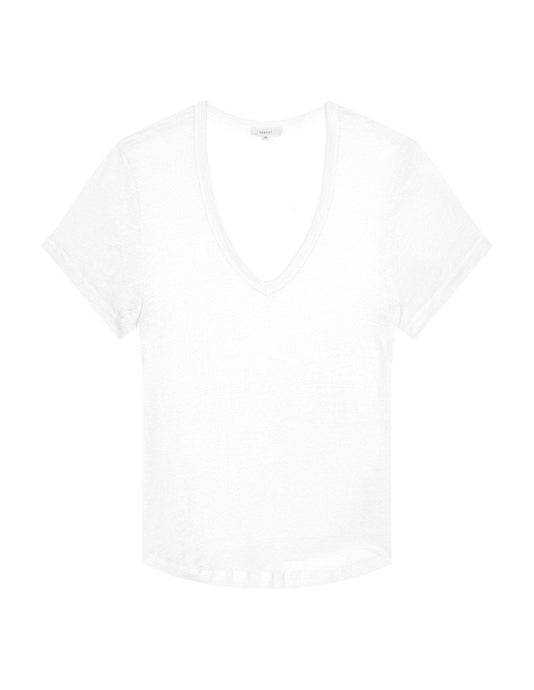 Womens Scoopneck T Shirt - White