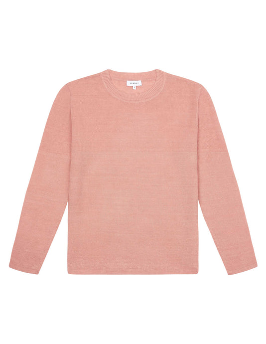 LIGHT WEIGHT LINEN SWEATER - DUSTY PINK