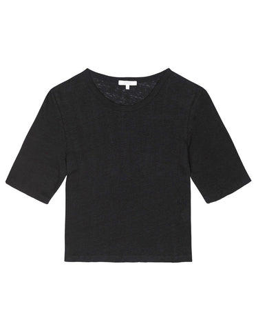 Womens Cropped Tee - Black
