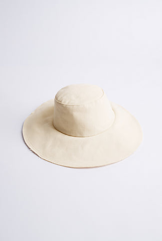 Denim Floppy Hat - Off White