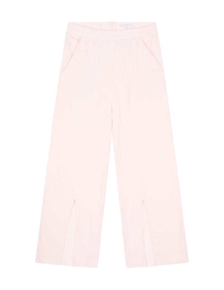 Womens Front Split Pant Light Pink