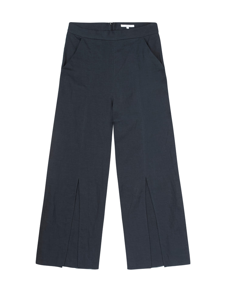 Womens Front Split Pant - Navy