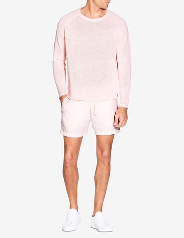 LINEN RAGLAN SWEATER - LIGHT PINK