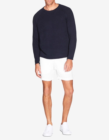 LINEN RAGLAN SWEATER - NAVY