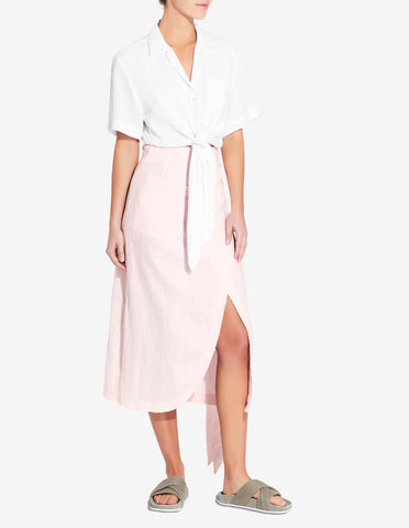 Womens Wrap Skirt - Light Pink
