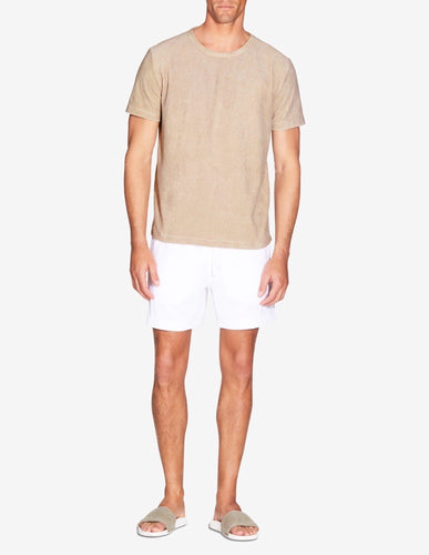 TERRY TOWEL T-SHIRT - TAUPE