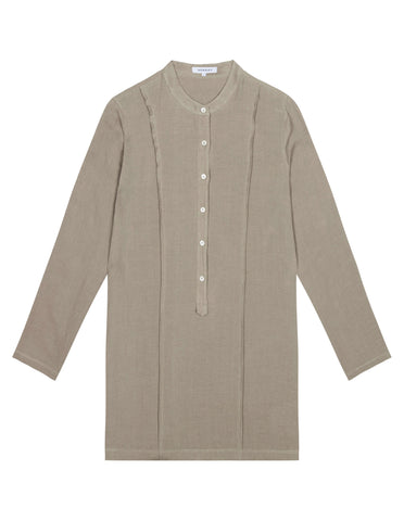 Womens PinTuck Shirt Dress - Sage