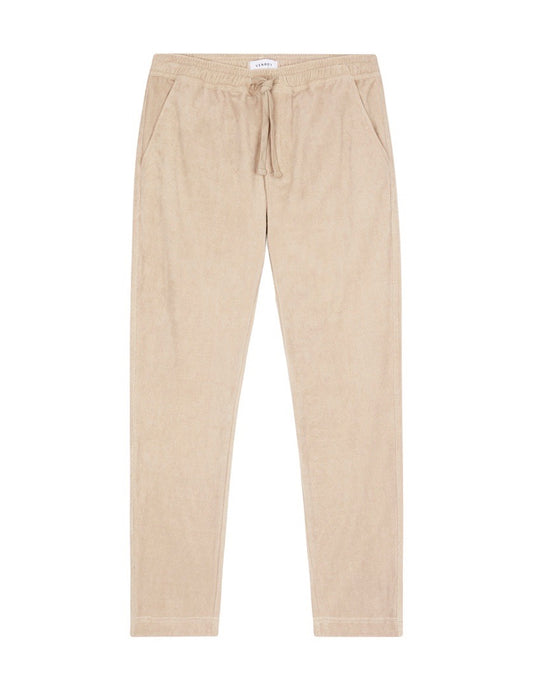 TERRY TOWEL PANT - TAUPE