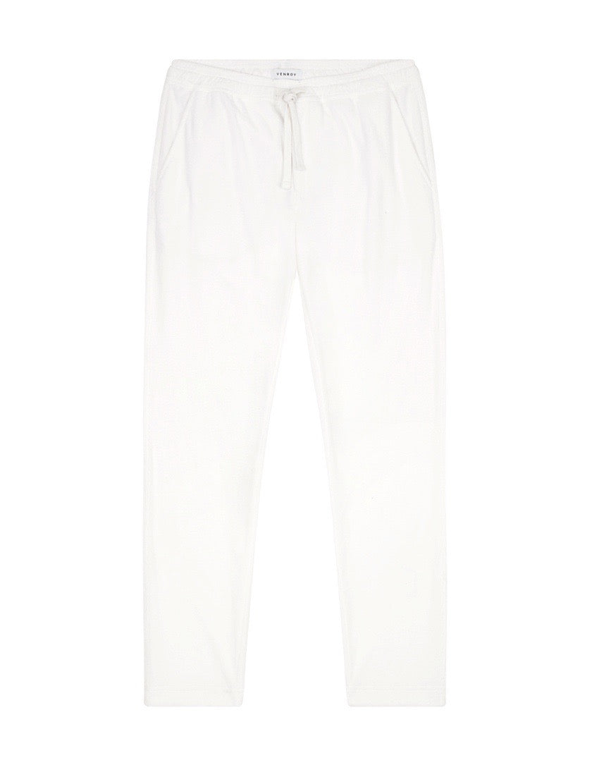 TERRY TOWEL PANT - WHITE
