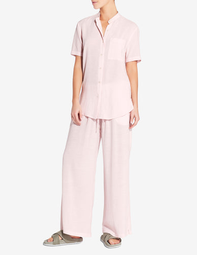 WOMENS TENCEL SS SHIRT - LIGHT PINK
