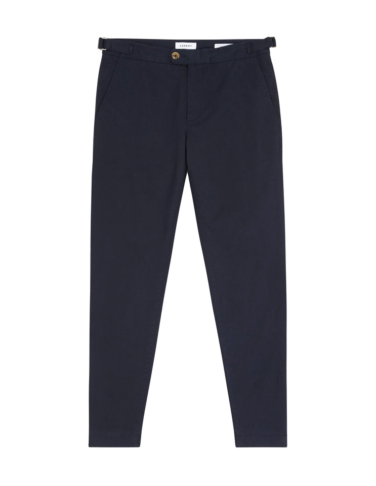 LINED SIDE TAB CHINO - NAVY
