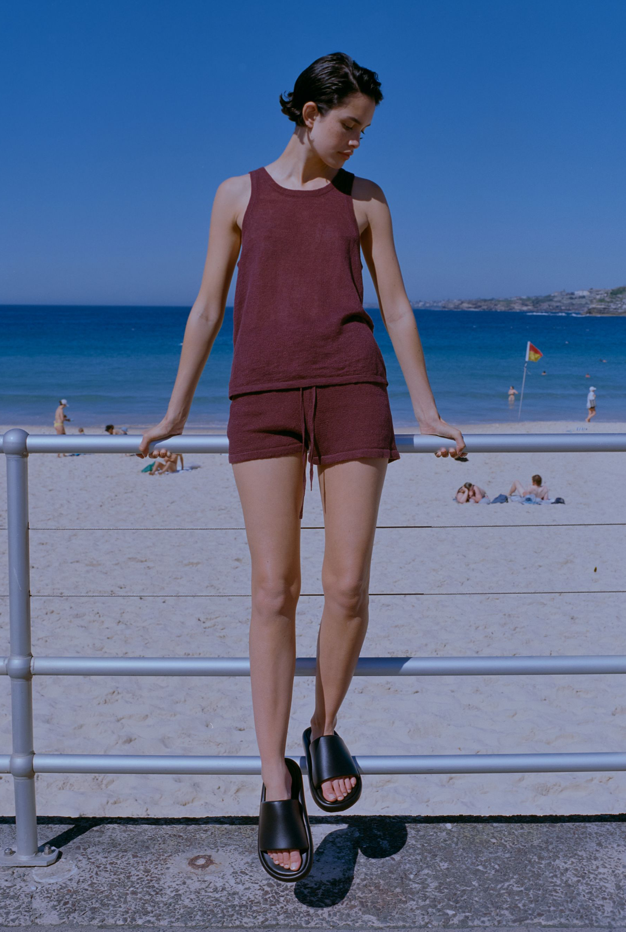 Knitted Tank - Burgundy