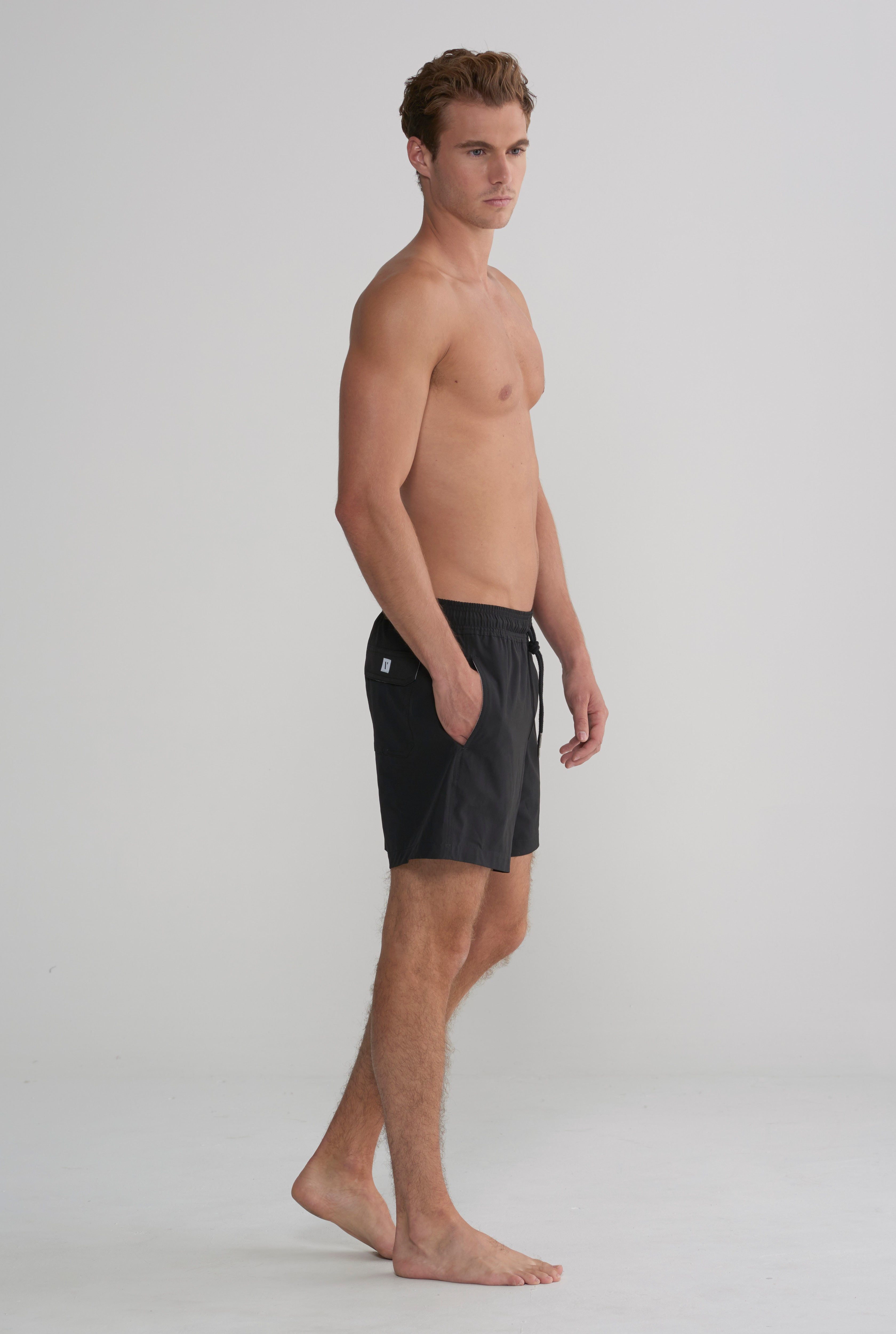 Swim Short - Black Stretch
