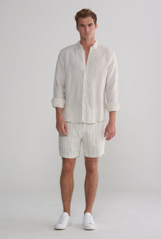 Linen Shirt - Summer Stripe