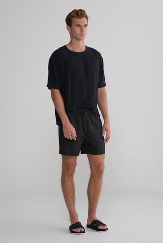 Tencel Lounge Short - Black