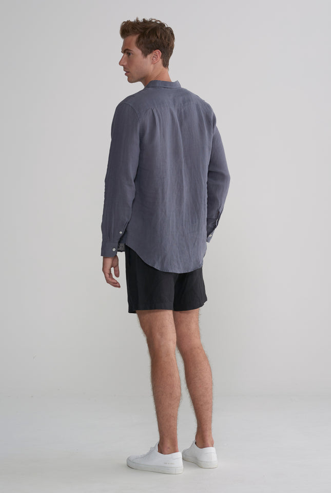Pop Over Shirt - Smoke Grey