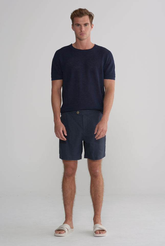Side Tab Short - Navy