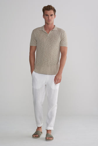 Knitted Polo - Taupe