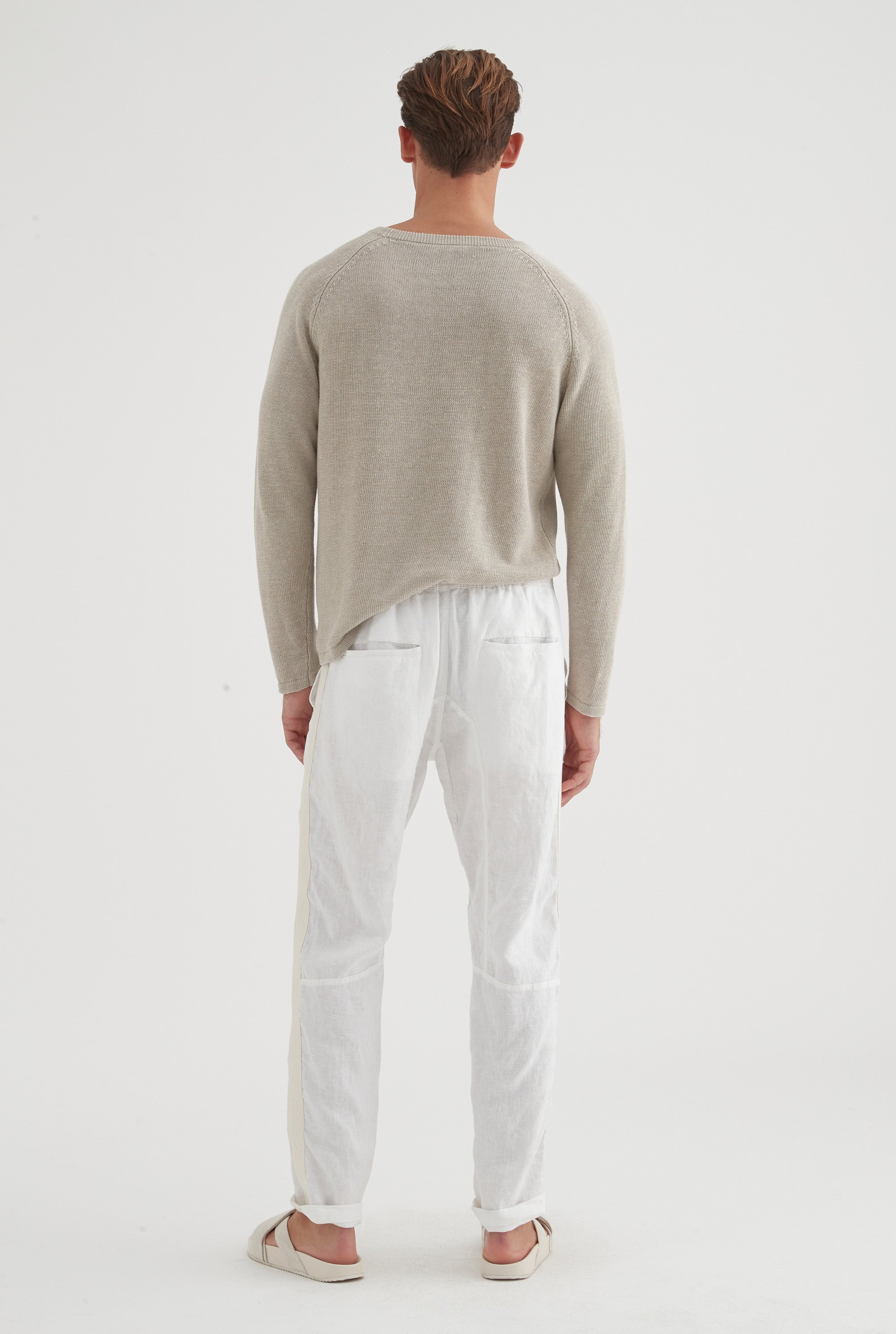 Tailored Lounge Pant - White/HS Tape