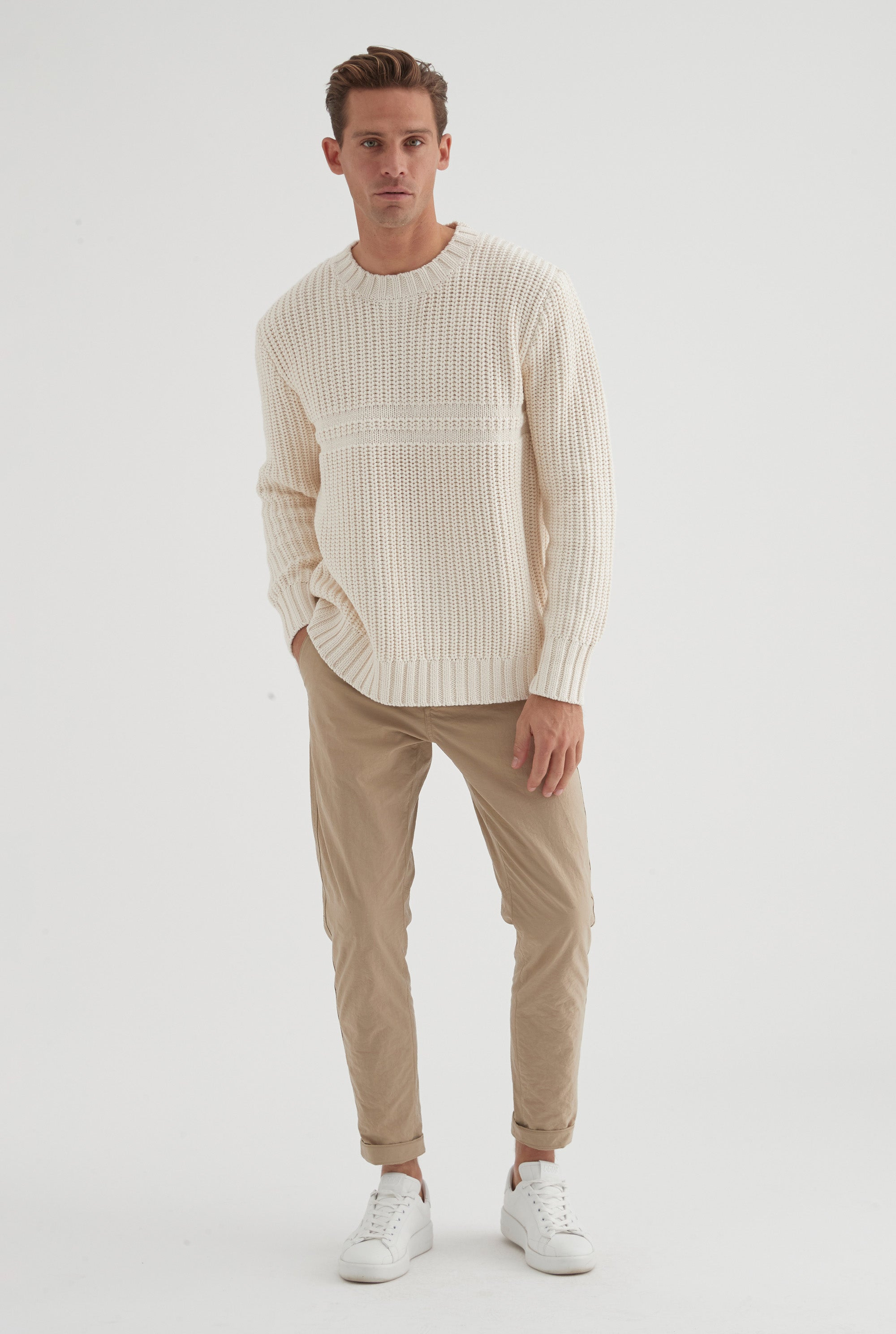 Fancy Knit Sweater - Off White