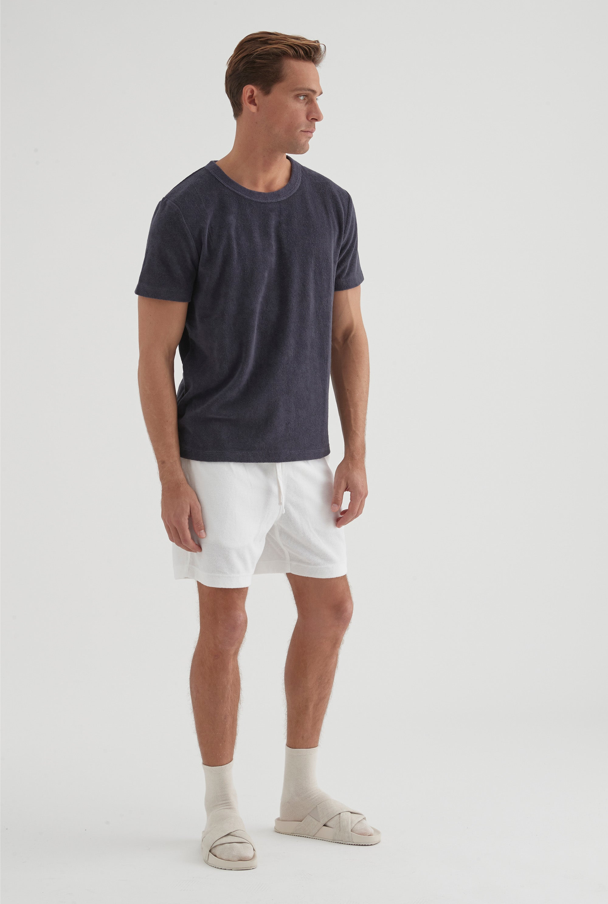 Terry Towel T-Shirt - Navy