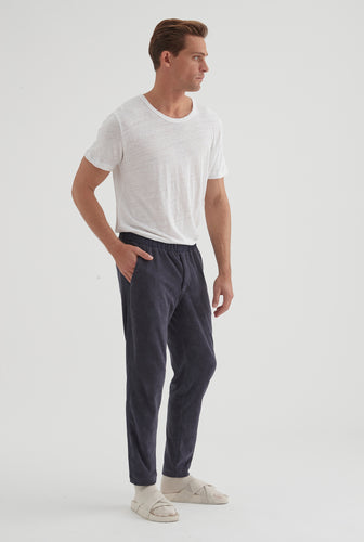 Terry Towel Sweat Pant - Navy