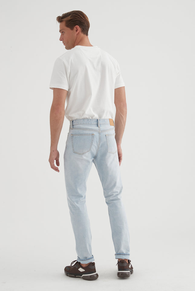 Slim Straight Jean - Light Blue Denim