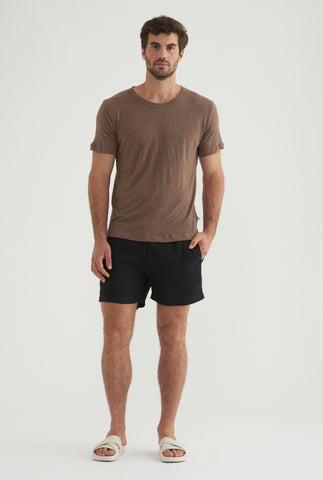 Linen T-Shirt - Brown