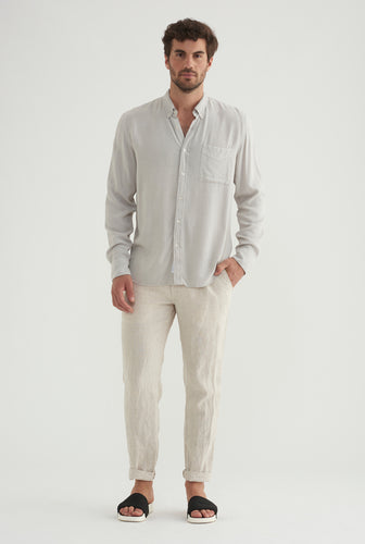 Tencel Shirt - Light Grey