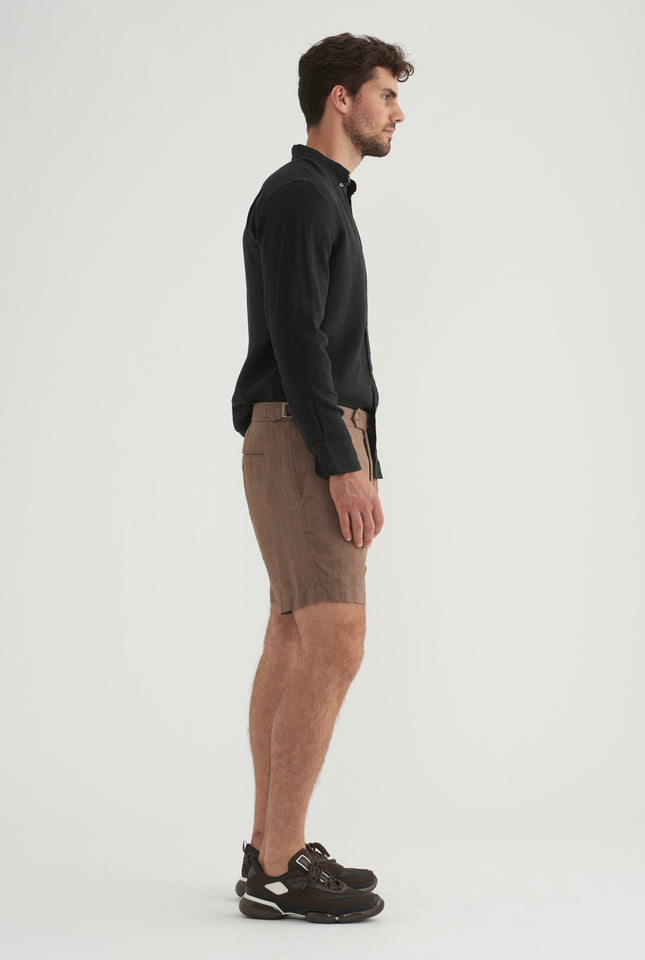 Side Tab Short - Brown