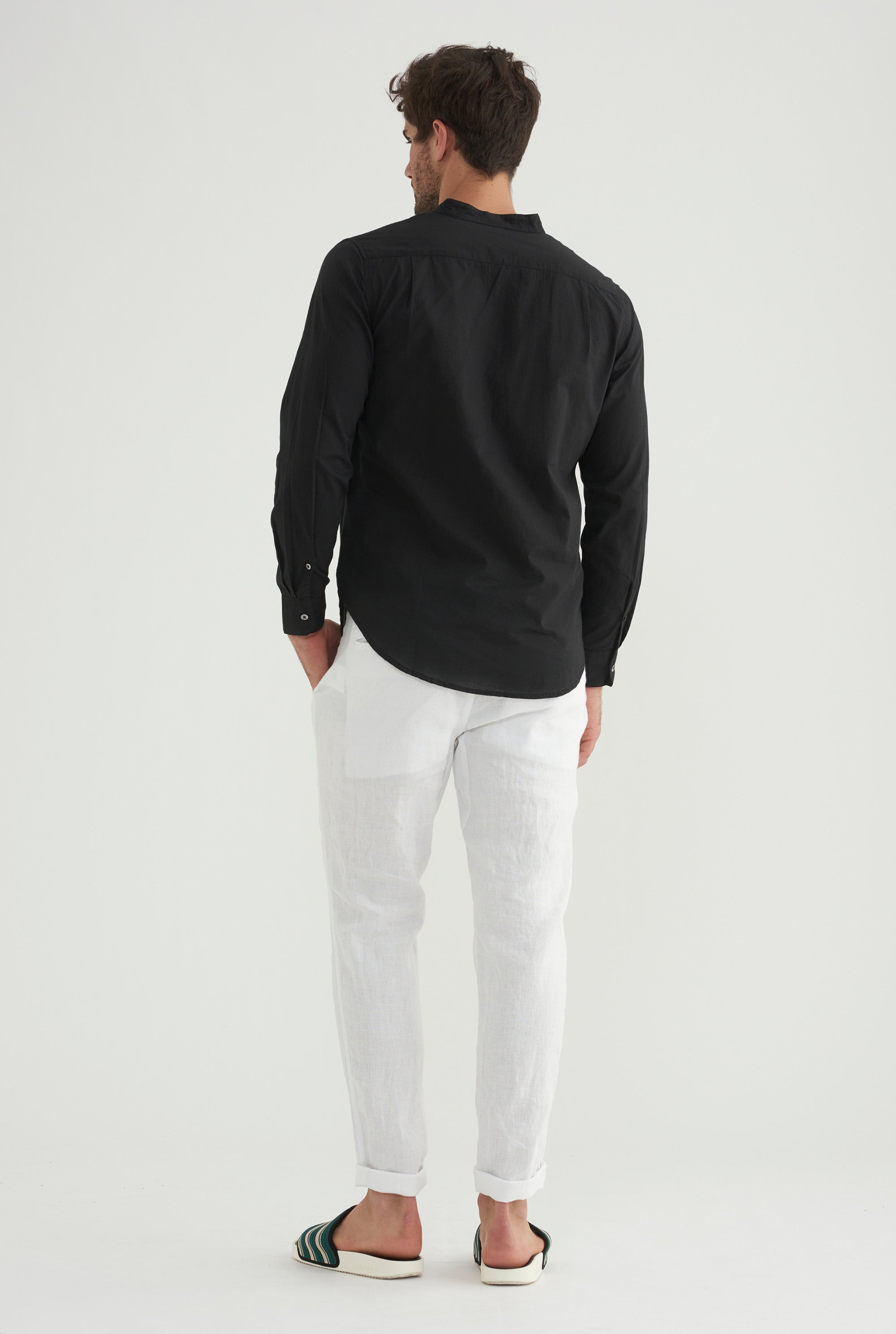 Poplin Pop Over Shirt - Black