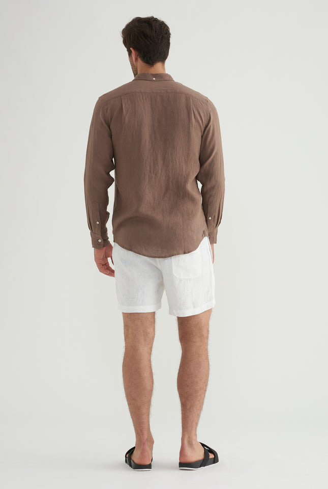 Linen Shirt - Brown